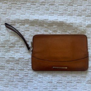 Lauren Ralph Lauren tan leather wristlet